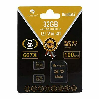 $22.19 • Buy 2 Pack 32GB Micro SD SDHC Memory Card Plus Adapter (Class 10 U1 UHS-I V10 A1 Pro