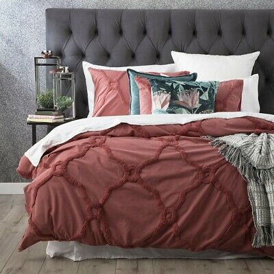 $ CDN109.37 • Buy Renee Taylor Moroccan 100% Cotton Chenille Vintage Washed Tufted Quilt Cover ...