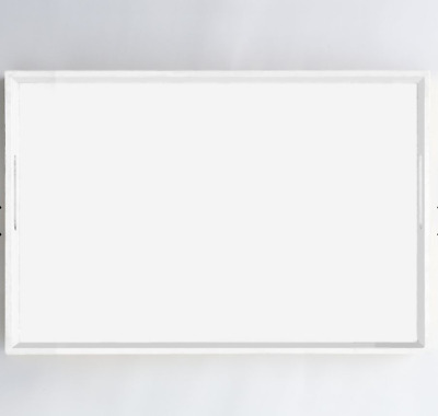 John Lewis & Partners Large Rectangle Lacquer Tray, White - RRP: £69 • 49£