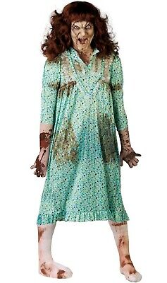 £16.99 • Buy Zombie Possessed Girl Exorcist Halloween Adult Costume Fancy Dress NIGHT GOWN