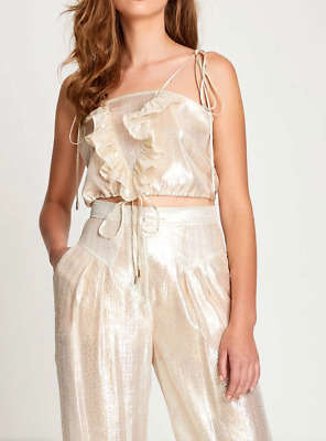 AU50 • Buy Bnwt Alice Mccall Gold Champers Cami - Size 6 Au/2 Us (rrp $245)