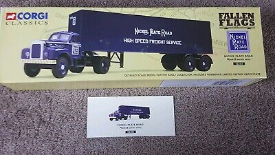 $29.99 • Buy Corgi Classics Fallen Flags Semi Truck Nickel Rate Road #52303 Mack B Series