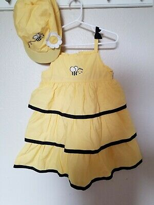 $14.87 • Buy Gymboree Bee Chic Ribbon Tiered Dress And Hat 3T