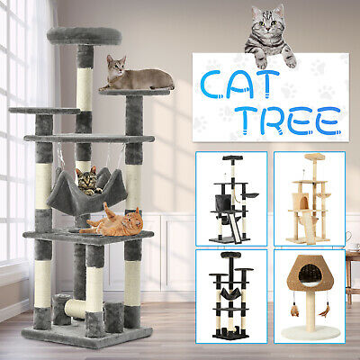 AU99.90 • Buy Cat Tree Scratching Post Scratchers Tower Condo House Furniture Wood Multi Level