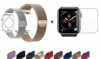 AU12.99 • Buy Milanese Metal Strap Band + Protector For Apple Watch 5 4 3 2 1 Iwatch 40 44 38