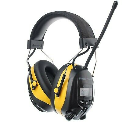 PROTEAR Ear Defenders With FM/AM Radio MP3 Compatible, SNR 30dB Adjustable He... • 73.99£
