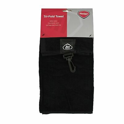 Masters Trifold GOLF TOWEL + Bag Clip & Groove Cleaning Patch ✅ FREE P&P ✅ • 5.95£