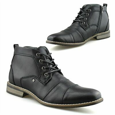 £16.95 • Buy Mens Smart Zip Up Military Style Army Biker Work Ankle Chelsea Boots Shoes Size