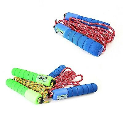£4.79 • Buy Childrens Kids Skipping Rope With Counter Jump Fitness Exercise Soft Handle 0378