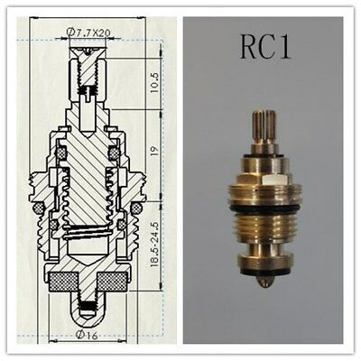 £4.49 • Buy Replacement Brass 7.7mm X 20 Rubber Tap Cartridge Valves Rc1  Gland Insert-each