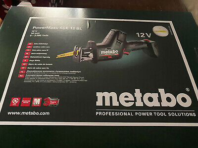 Metabo Powermaxx Sse 12 Bl Reciprocating Saw • 112.57£