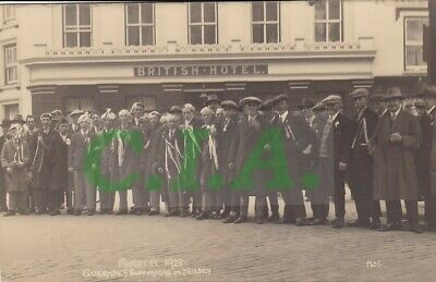 Guernsey Football Supporters In Jersey - Muratti 1928 - Rp Postcard By A.smith • 9.99£