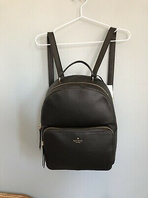 $ CDN235.96 • Buy NWT Kate Spade Large Black Nicole Larchmont Avenue Leather Backpack