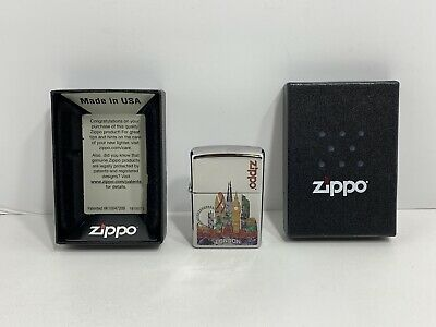 $9.99 • Buy Zippo Z-Fuzion London Pocket Lighter Model 38054, NEW!