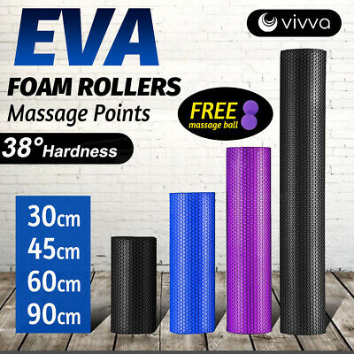AU33.55 • Buy VIVVA Physio Massage Point Foam Roller EVA Yoga Fitness Back Training Exercise