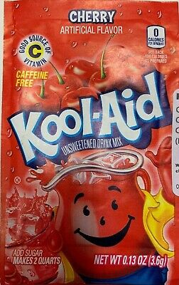 Kool Aid CHERRY Flavour Drink Sachets US Import UK Seller 3.6g Pack Of 4 • 4.99£