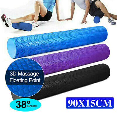 AU30.59 • Buy VIVVA Massage Foam Roller Back Training Gym Exercise EVA Yoga Fitness 90CM