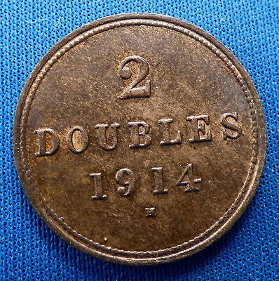 1914h Guernsey 2 Doubled • 0.99£