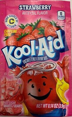 Kool Aid STRAWBERRY Flavour Drink Sachets US Import UK Seller 3.9g Pack Of 4 • 4.99£