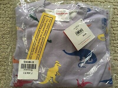$20 • Buy Hanna Andersson Dinosaurs Long Sleeve Pajamas On Lavendar Sz 110/5 NWT