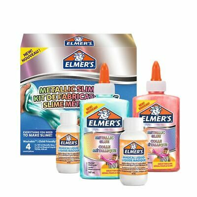 AU30.39 • Buy Elmer's Metallic Slime Kit Includes 2x Metallic Glue And 2x Magical Liquid