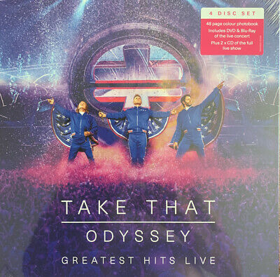 Take That - Odyssey - Greatest Hits Live - 4 Disc Set Dvd, Blu-ray, 2cd, Book • 7.99£