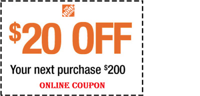 $1.24 • Buy  ONE (1X) HOME DEPOT $20 OFF $200 1coupon ONLINE USE ONLY!!!