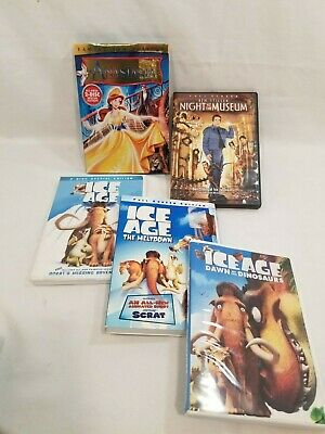 $ CDN40.67 • Buy Lot Of 20th Cent Fox DVDs Anastasia/ Night At The Museum/ 3 Ice Age DVDs Family