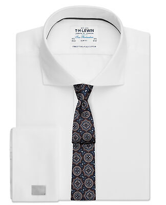 £19.95 • Buy T.M.Lewin Mens Slim Fit White Twill Double Cuff Shirt 15