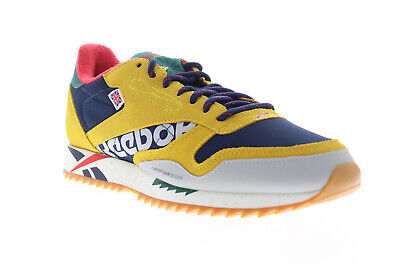 AU110.99 • Buy Reebok Classic Leather Ripple Altered DV7194 Mens Yellow Low Top Sneakers Shoes