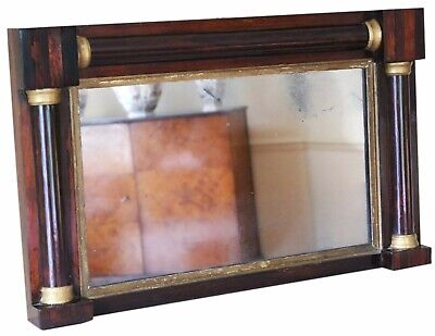 £495 • Buy Antique Quality Regency Mahogany And Gilt Overmantle Or Wall Mirror C1825