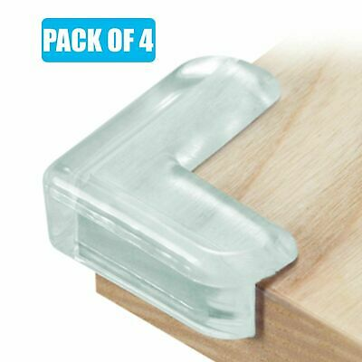£2.04 • Buy 4x Clear Rubber Furniture Corner Edge Protector Baby Safety Table Cushion Guard