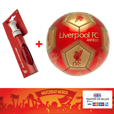 Liverpool FC Signature Football Size 5 + BALL PUMP Official CHRISTMAS GIFT • 16.99£