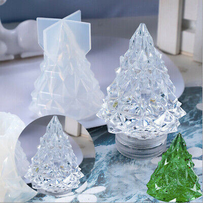 Mould Silicone Christmas Tree Mold Casting Light Resin Candle Wax Making Craft • 3.58£