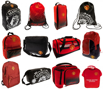 Official MANCHESTER UNITED Rucksack Backpack Gymbag Bootbag Lunch Bag Gift • 13.89£