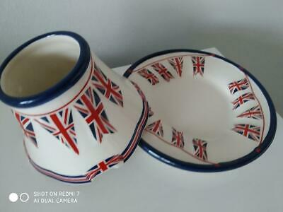 Yankee Candle 'union Jack' Small Candle Shade & Tray Set - Vht Find • 20£