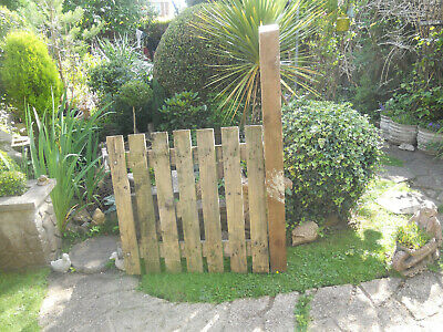 Wooden Garden Gate With Metal Straps And 2 Gate Hooks Plus Post • 5.50£