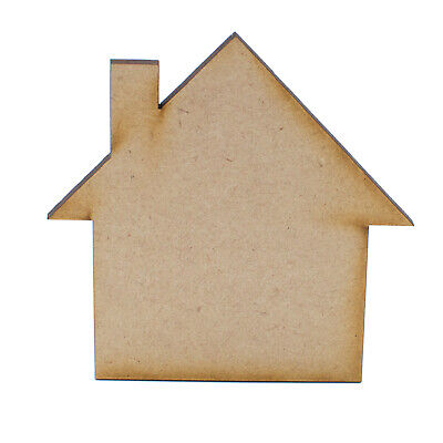 £2.45 • Buy New Home MDF House Craft Shape Wooden Blank Gift Tags Decoration Embellishments