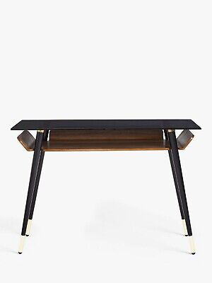 John Lewis & Partners Contour Desk, Walnut/Black Rrp£399 • 295£