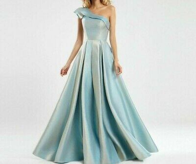 £136.28 • Buy One Shoulder Evening Dress Glitter A-line Prom Dresses Party Ladies Formal Gowns