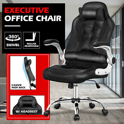 AU139.90 • Buy ExecutiveOffice ChairGaming ComputerChairs High Back ReclinerPU Leather Seat