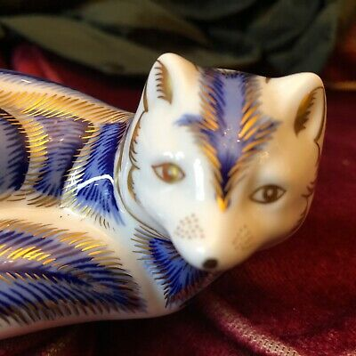 Royal Crown Derby Fox Paperweights • 8.50£