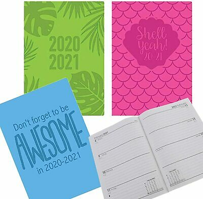 2020-2021 A5 Week To View WTV Academic Diary Mid Year Teacher Student + Free Pen • 2.95£
