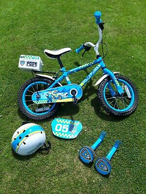 Halfords Apollo 14  Kids Police Patrol Bike With Helmet And Stabilisers 4-6years • 10£