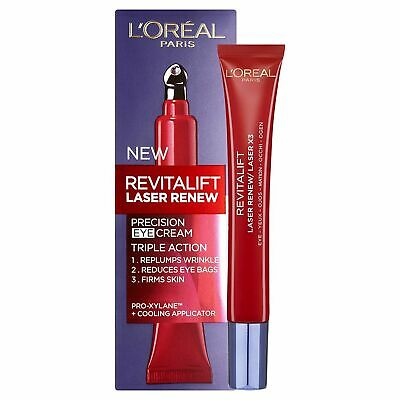 Loreal Revitalift Laser Renew Precision Eye Cream Re Plumps Wrinkles *New&Sealed • 9.49£