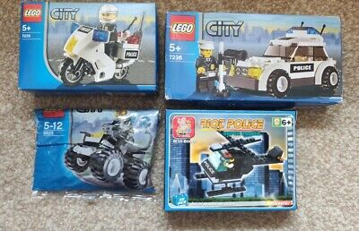 Lego City Police Collection. Set Of 4 (Motorbike, Car, Quad Bike, Helicopter) • 6£
