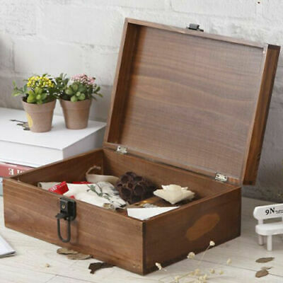 Clearance Rustic Jewellery Chest Table Top Stand Organiser Case Boxes Wood New  • 4.99£