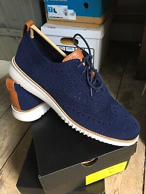 $ CDN117.32 • Buy NEW Cole Haan 2.Zerogrand Cotton Stitchlite Wingtip Shoes Blue/Gray 12 M $200