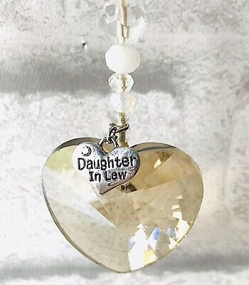 Daughter In Law Personalised Crystal Heart Birthday Memory Christmas Gift • 5.95£