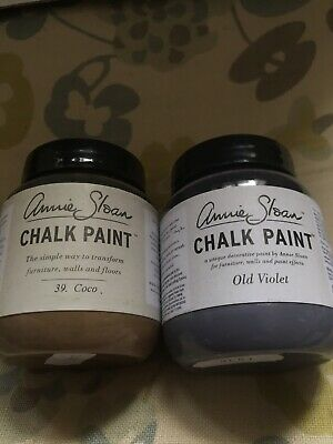 Annie Sloan Paint 2 X 100ml Paint Pots -Coco & Old Violet- For Small Projects • 18.90£